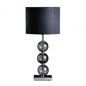 Premier Home Mistro bordslampa-EU plugg, kromat glas, svart