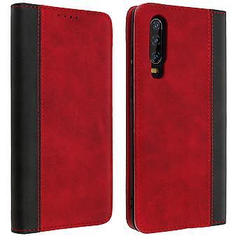 Huawei P30 Folio Fall Speicherkarte VideoStänder rot