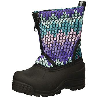 Kids Northside Girls Icicle Fabric Mid-Calf Pull On Snow Boots