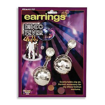 Bristol Novelty Unisex Adults Disco Ball Earrings