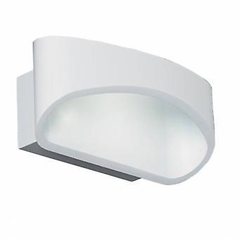1 Light lampada da parete per interni bianco opaco
