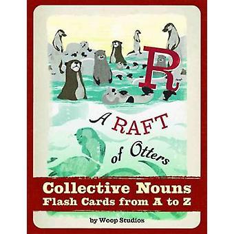 En rad Otters kollektiva Substantiv Flash cards av woop Studios