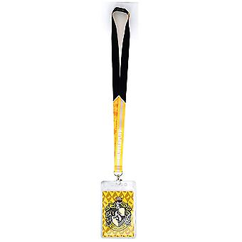 Lanyard - Harry Potter - Hufflepuff Crest w/Card Holder New 48472