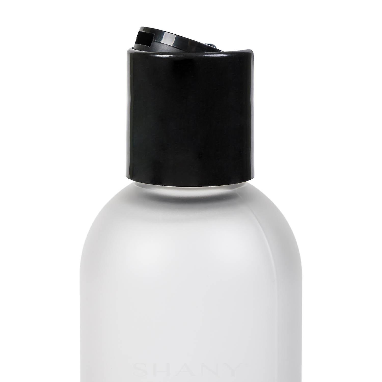 2OZ Frosted Plastic PET Cosmo Bullet Bottle With Black Disk Lid