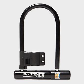 Nieuwe keeper 12 standaard slot met beugel fietsen veiligheidsslot zwart/grijs