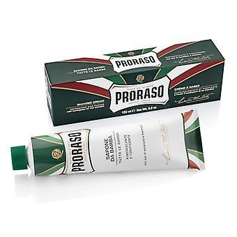 Proraso Green Shaving Cream Tube with Eucalyptus Oil 150ml/5oz