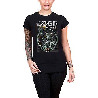 CBGB T Shirt Liberty logo new Official Womens Skinny Fit Black
