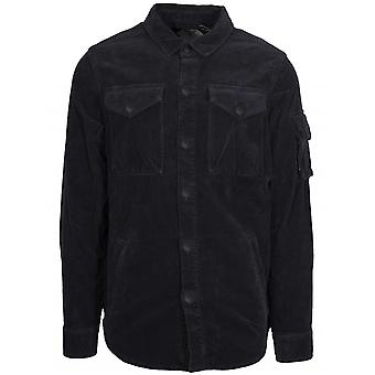 Barbour Beacon Askern Navy Cord Over Shirt
