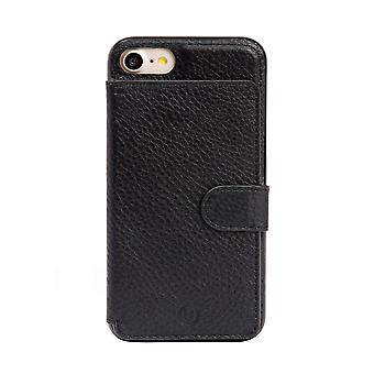 Genuine Leather Black iPhone SE / 8 / 7 Case With Card Holder