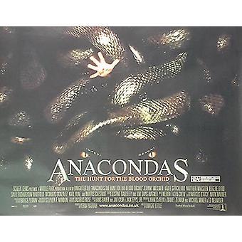 Anacondas (kaksipuolinen) alkuperäinen elokuva teatteri juliste