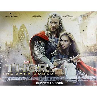 Thor The Dark World Poster Double Sided Regular Quad - Destruction Of London Style (2013) Original Cinema Poster