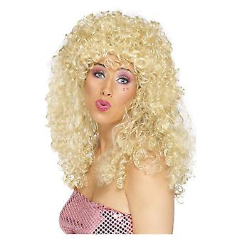 Womens Boogie Babe peruk blond maskeraddräkter tillbehör