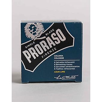 Proraso Refreshing Tissues - Azur Lime (6 Pack)