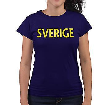 Zweden vrouwen T-shirt in Navy