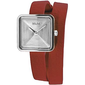 M & M Alemania M11951-642L Square Line Reloj de damas