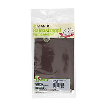 Marbet MB120.104 | Cotton Mending Fabric | Iron-On | 40 x 15cm | Mud