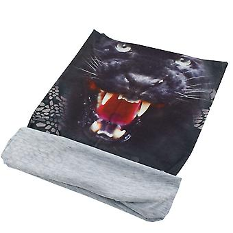 TRIXES Animal Design Bandana Snood Black Panther Multi-Functional Kopftragen