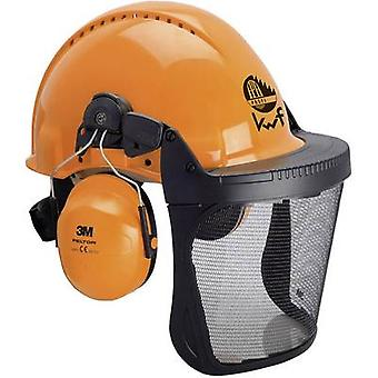 3M Forest XA007707376 Foresters hard hat Built-in face shield Orange