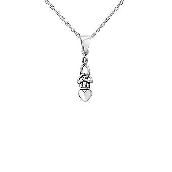 "Celtic Holy Trinity Knot Irish Claddagh Love Loyalty And Friendship Necklace Pendant - Includes A 18"" Silver Chain"