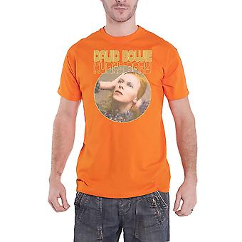 David Bowie T Shirt Hunky Dory Portrait Logo new Official Mens Orange