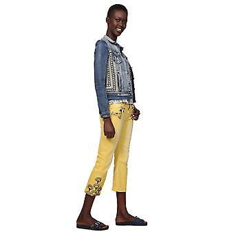 Desigual Women's Parlermo Ethnic Embroidery Denim Jacket