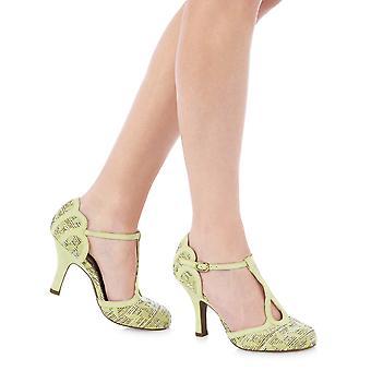 Ruby Shoo Polly Lemon Mary Jane Heels & Matching Manila Bag