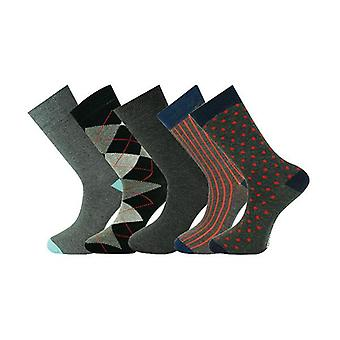 5 Pairs Mens Ankle Socks Multi Selection 001