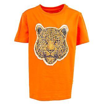 Stones And Bones Tshirt Oscar Big Cats Orange