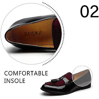 JITAI Männer's Lederschuhe Muster Druck Männer's Kleid Loafer Schuhe Slip-on C...