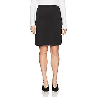 Star Vixen Women's Petite Knee Length Classic Stretch Pencil Skirt, Black, PS