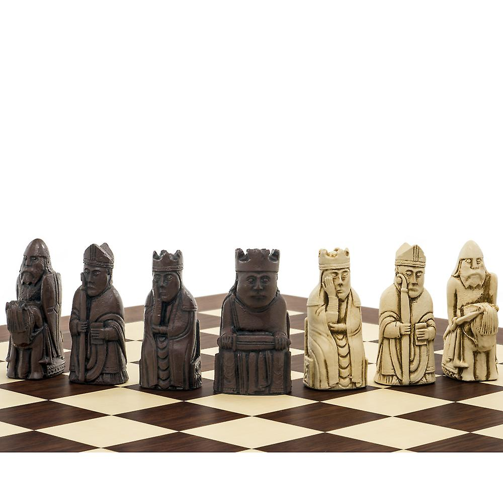 The Berkeley Chess Isle of Lewis (2nd Edt) Palisander Chess Set