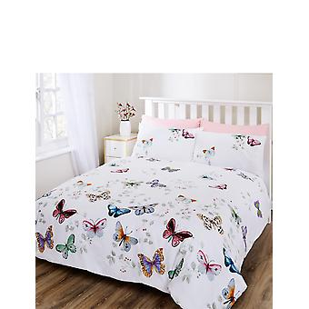 """Chums Butterfly Cotton Duvet & Curtain set (72"""" drop) Single Double or KIng"""