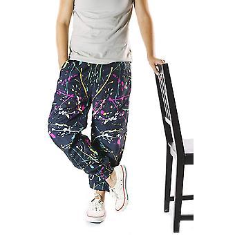 Funny Guy Mugs Neon Paint Splatter Windbreaker Pants, X-Large