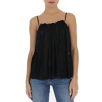 Semi-couture Y0sw50y69 Dames's Black Polyester Top