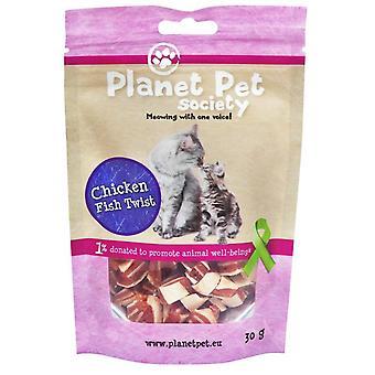 Planet Pet Snack para Gatos de Pollo y Pescado Twist