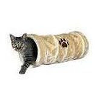 Trixie Pluche speel tunnel, beige (Katten , Speelgoed , Tunnels)