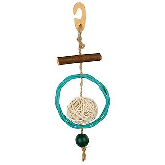 Trixie Natural Toy with Sisal Rope 22 Cm. (Birds , Bird Cage Accessories , Toys)