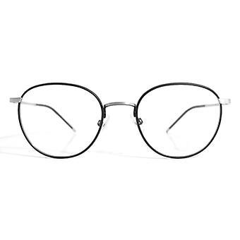 Gotti Abou SB-BLKM Brushed Silver-Black Glasses