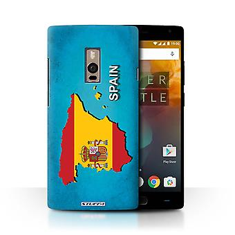 STUFF4 Case/Cover for OnePlus 2/Two/Spain/Spanish/Flag Nations