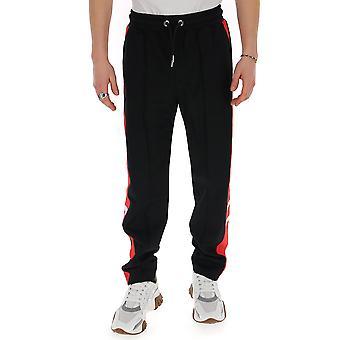 Les Hommes Lij301760u9015 Men's Black Polyester Joggers