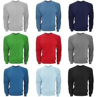 SG Mens Long Sleeve Crew Neck Sweatshirt Top