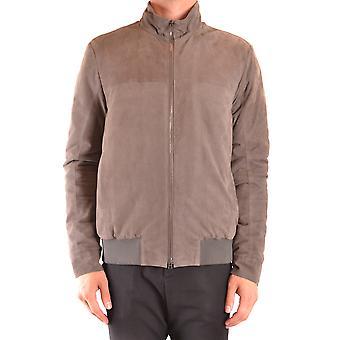 Herno Ezbc034047 Men's Brown Suede Outerwear Jacket