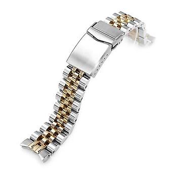 Strapcode watch bracelet 20mm angus jubilee 316l stainless steel watch bracelet for seiko alpinist sarb017 (or hamilton k.), brushed with wcp50139