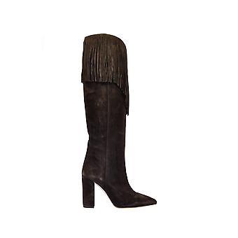 Paris Texas Px179velour Women's Brown Leather Boots