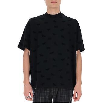 Maison Kitsuné Du00113kj0016 Men's Black Cotton T-shirt