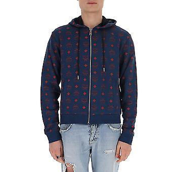 Mcm Mhj9amm631vs Men's Blue Cotton Sweatshirt