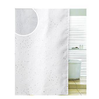 ספינטה ספירלה מקלחת פוליאסטר לבן וילון 180 x 180 ס מ