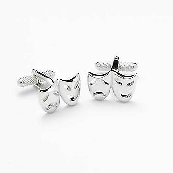 Drama Mask Cufflinks by Onyx Art - Gift Boxed -  Comedy of Errors Theatrical