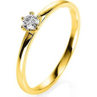 Anello diamante - 18K 750/- Oro Giallo - 0.15 ct. - 1O322G851 - Larghezza anello: 51
