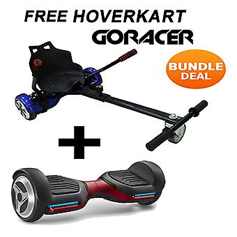 G PRO Red Segway with a Racer Hip Hop Hovercart